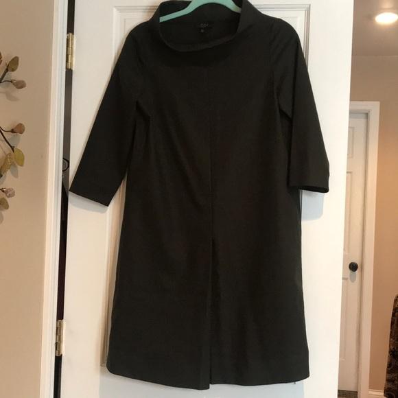 COS Dresses & Skirts - COS Mock Neck Dark Green Tunic Dress